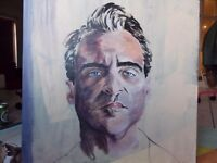"""Original Acrylic Painting on Canvas of Joaquin Phoenix in """"The Master"""" 70x70cm"""