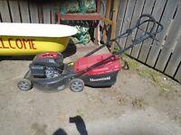 mountfield 160cc key start self propeld lawn mower