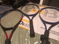 X3 tennis rackets in good condition only £20