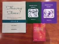 4 music theory books. Grades 1 to 5. Perfect condition - as new.