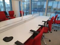 Office furniture in bulk (desks, chairs, storage solutions)