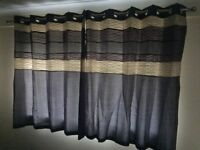 2 x Pairs Purple Curtains