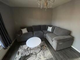 Chenille fabric corner sofa