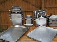 stainless steel assorted kitchen items