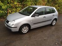 VW POLO 5 DOOR TWIST IN SILVER VERY LOW MILEAGE ONLY 61000 MILES