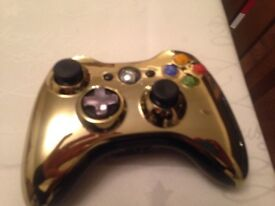 For sale Gold Xbox 360 controller