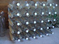 36 High Quality Swing top Oxford Glass Bottles 1 ltr each + 5 Half Litre bottles Decagon shaped
