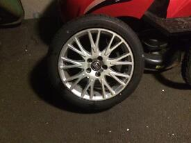 17' Volvo alloy and tyre