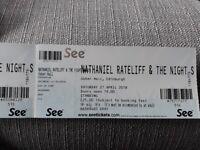 2 Tickets to see Nathaniel Rateliff & The Night Sweats at Usher Hall, Edinburgh, Saturday 21st April