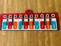 ELC musical Footsteps dancing giant keyboard