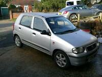 Alto 1 owner 68k fsh FullMOT+Service,Cambelt+Warranty all inc,£30 ayear road tax vgc. ideal 1stcar.