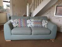 DFS Zapp 3 seater sofa with armchair and footstool