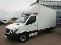MERCEDES SPRINTER LUTON VAN AVAILABLE FOR LONG TERM HIRE, COURIER HIRE, VAN HIRE FOR COURIER