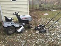 FREE Lawn tractor and lawn mower