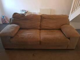 Sofology 3 seater sofa brown