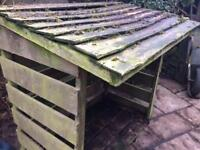 Wooden log store REDUCED