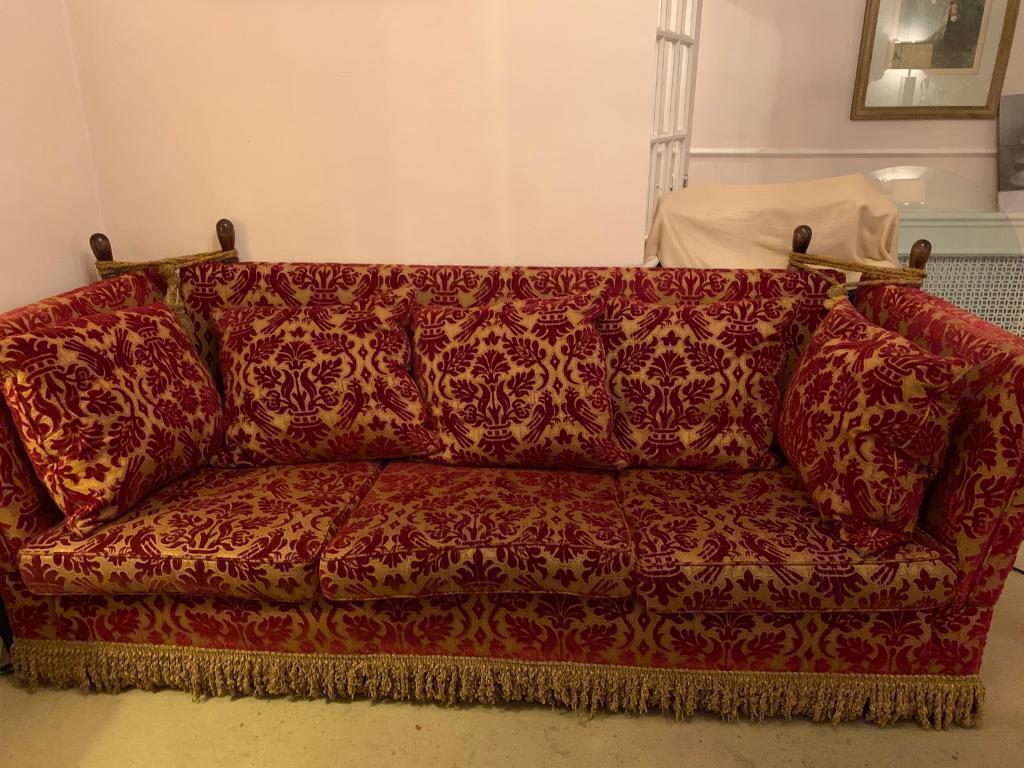 Amazing Large 4 Seater Knole Sofa Burgundy Red Gold In Fulham London Gumtree Inzonedesignstudio Interior Chair Design Inzonedesignstudiocom