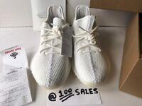 Adidas x Kanye West Yeezy Boost 350 V2 Cream White UK10.5/US11/EU45 1/3 CP9366 + FL Receipt 100sales