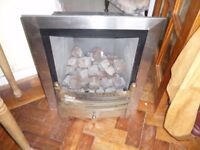Gas Fire without mantlepiece and surround