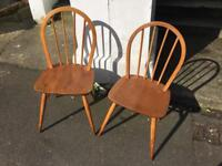 2 lovely mid-century Ercol chairs