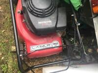 Mountfield laser 46cm with petrol Honda gv100 engine self propelled