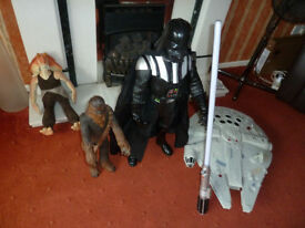5 Starwars large toys - Nice condition
