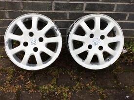 14 inch Peugeot alloys