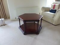 Solid Wood Hexagonal Occasional Table