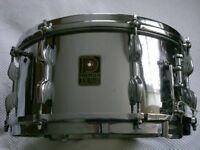 "Premier Dominion Ace COB snare drum 14 x 6 1/2"" - Vintage - England - Modded"