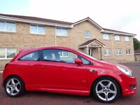 12 MONTH WARRANTY! (08) VAUXHALL Corsa SRi 1.6 Turbo Limited Edition FLAME RED - 50,000 Miles - FVSH