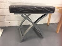 Dressing Table Stool, NEW, Chrome Legs with Faux Leather Pad