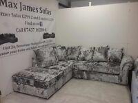 Brand new crushed velvet corner suite,foam seats,hardwood frames,comes with warranty.