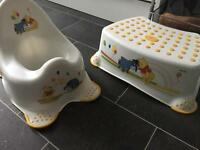 Disney potty and step combo