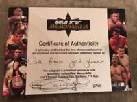 Carl Froch signed Gold VIP glove