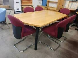 Meeting room table with six top quality chairs