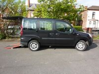 Fiat Doblo 2009 1.4 petrol Disabled Wheelchair coverted WAV