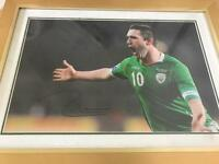 Robbie Keane signed print canvas
