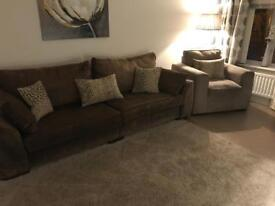 SOLD *****************4 seater sofa & chair