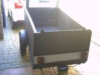 trailer for sale a large trailer with drop down back new paint job with lights cheap
