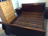 King Size Sleigh Bed with matching Units