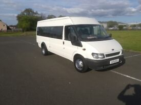 TRANSIT MINIBUS LOW MILES 61 K CHURCH OWNER FROM NEW £2450 NO VAT