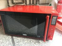 De'Longhi Microwave - P90D23EL-B1A 23L Solo Microwave - Red Costs £140 NEW Collection from NW8