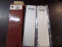 """2 X FINGER PLATES IN ORIGINAL PACKAGING, 300X75MM (12X3"""") FREE POSTAGE"""