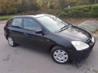 Pano Roof* Black Honda Civic Automatic 1.6 L 5 doors Just 45k* Not Auto Manual Jazz Toyota 1.4L