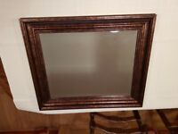 Mirror ideal for hallway or lounge, brown flecked effect. Very good condition.