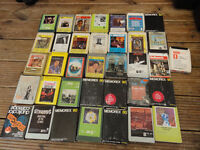 36 pieces Vintage eight tracks country And western Musics tapes