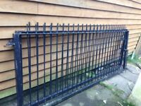 Large heavy well made gates 18'ft opening plus the hangers last a lifetime very well made