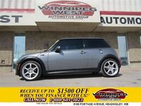 2006 MINI COOPER S SUPERCHARGED SPORT, LEATHER, TWIN SUNROOFS, L
