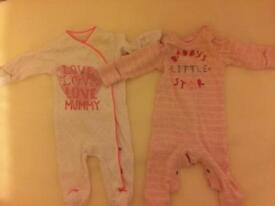 8 Up to 1 month sleepsuits