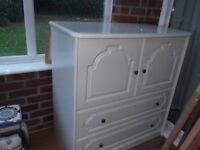 1 Bedroom Storage Unit Tallboy Chest with Doors & Drawers
